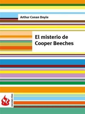 cover image of El misterio de Cooper Beeches (low cost). Edición limitada