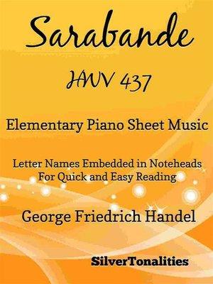cover image of Sarabande HWV 437 Elementary Piano Sheet Music