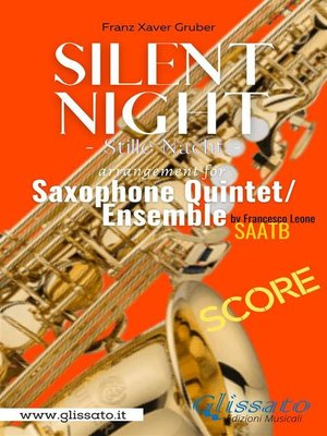 cover image of Silent Night--Saxophone Quintet (score)