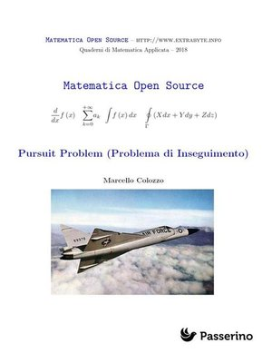 cover image of Pursuit Problem (Problema di Inseguimento)