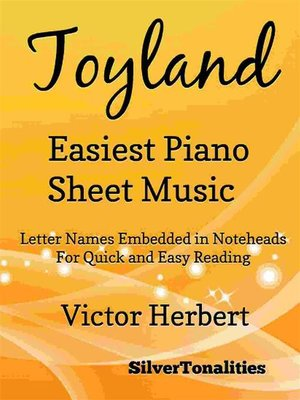 cover image of Toyland Easiest Piano Sheet Music