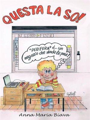 cover image of Questa la so!