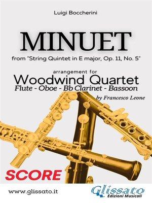 cover image of Minuet--Woodwind Quartet (SCORE)