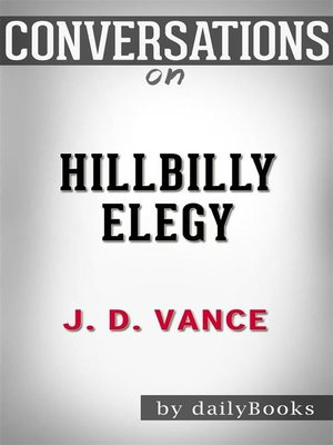 cover image of Hillbilly Elegy--A Memoir of a Family and Culture in Crisis