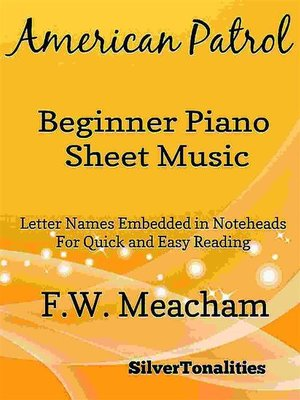 cover image of American Patrol Beginner Piano Sheet Music