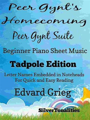 cover image of Peer Gynt's Home Coming Beginner Piano Sheet Music Tadpole Edition