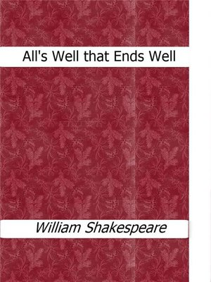 cover image of All's Well that Ends Well
