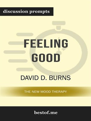 "cover image of Summary--""Feeling Good--The New Mood Therapy"" by David D. Burns 