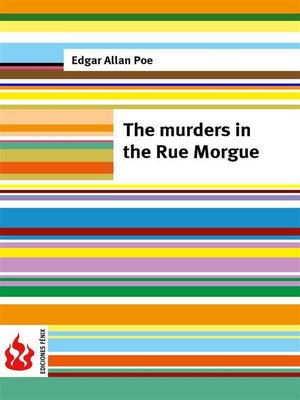 cover image of The murders in the Rue Morgue (low cost). Limited edition