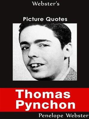 cover image of Webster's Thomas Pynchon Picture Quotes