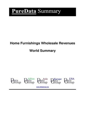 cover image of Home Furnishings Wholesale Revenues World Summary