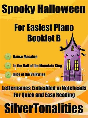 cover image of Spooky Halloween for Easiest Piano Booklet B
