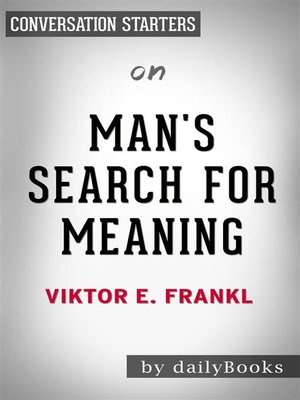 cover image of Man's Search for Meaning--by Viktor E. Frankl