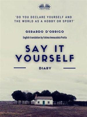 cover image of Say It Yourself