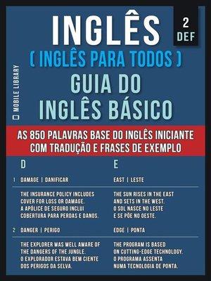 cover image of 2--DEF--Inglês ( Inglês Para Todos ) Guia do Inglês Básico