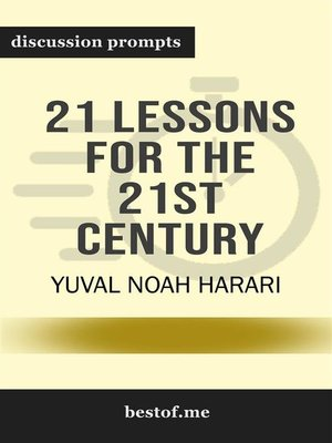 "cover image of Summary--""21 Lessons for the 21st Century"" by Yuval Noah Harari 