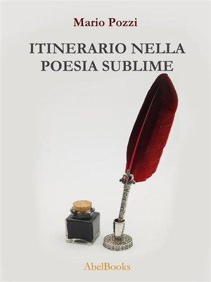 cover image of Itinerario nella poesia sublime