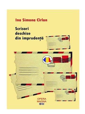 cover image of Scrisori deschise din imprudenţă