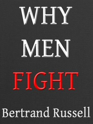 cover image of Why Men Fight--A Method of Abolishing the International Duel
