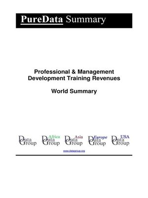cover image of Professional & Management Development Training Revenues World Summary