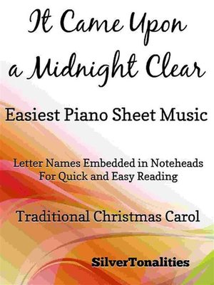 cover image of It Came Upon a Midnight Clear Easiest Piano Sheet Music