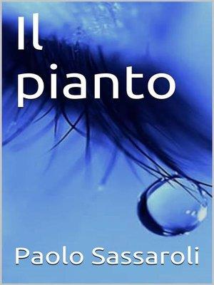 cover image of Il pianto