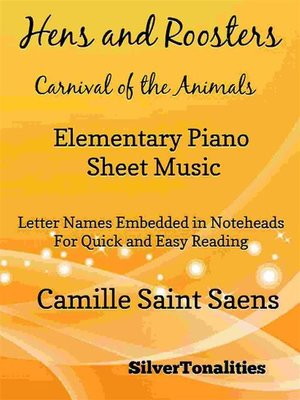 cover image of Hens and Roosters Carnival of the Animals Elementary Piano Sheet Music