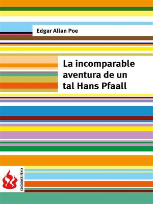 cover image of La incomparable aventura de un tal Hans Pfaall (low cost). Edición limitada