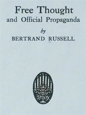 cover image of Free Thought and Official Propaganda