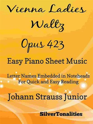 cover image of Vienna Ladies Waltz Opus 423 Easy Piano Sheet Music