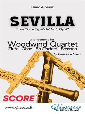 cover image of Sevilla--Woodwind Quartet (score)