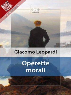 cover image of Operette morali