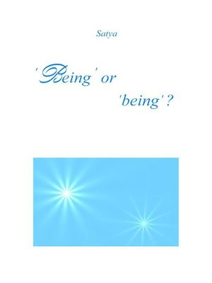cover image of 'Being' or 'being'?