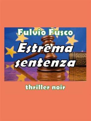 cover image of Estrema Sentenza