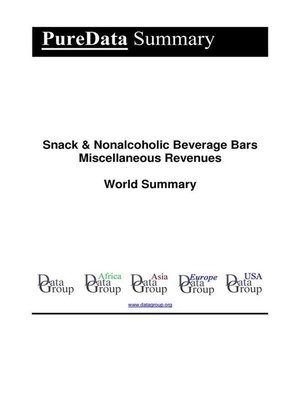 cover image of Snack & Nonalcoholic Beverage Bars Miscellaneous Revenues World Summary