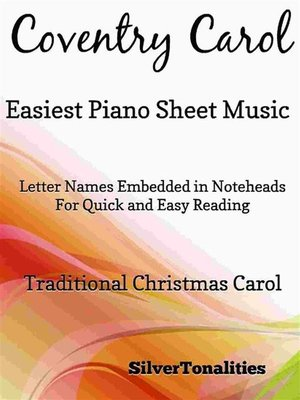 cover image of Coventry Carol Easiest Piano Sheet Music