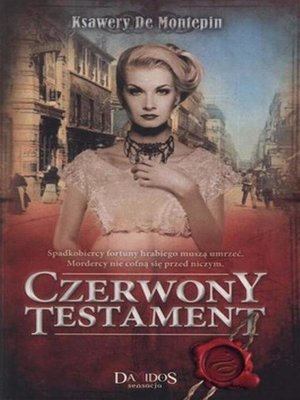 cover image of Czerwony testament