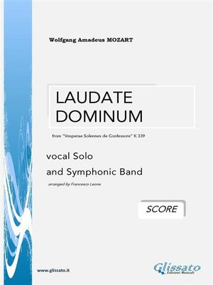 """cover image of """"Laudate Dominum"""" by W.A.Mozart  (SCORE)"""