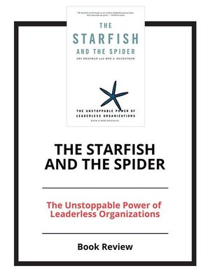 cover image of The Starfish and the Spider