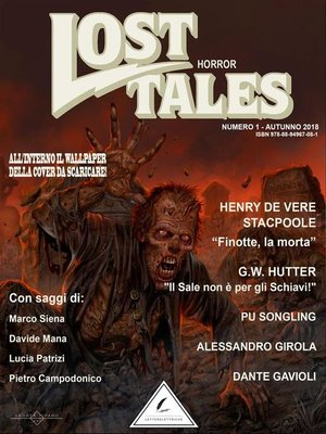 cover image of Lost Tales--Horror n°1--Estate 2018
