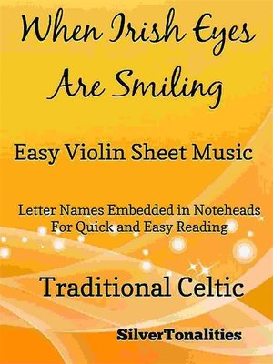 cover image of When Irish Eyes Are Smiling Easy Violin Sheet Music
