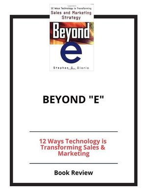 "cover image of Beyond ""e"""