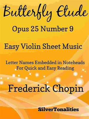 cover image of Butterfly Etude Opus 25 Number 9 Easy Violin Sheet Music