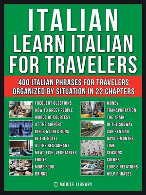 cover image of Italian--Learn Italian for Travelers