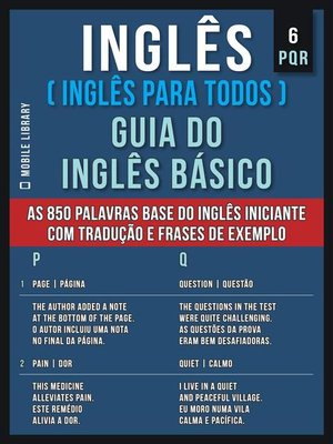 cover image of 6--PQR--Inglês ( Inglês Para Todos ) Guia do Inglês Básico