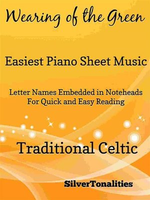 cover image of Wearing of the Green Easiest Piano Sheet Music