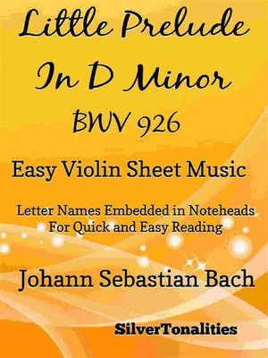 cover image of Littlest Prelude in D Minor BWV 926 Easy Violin Sheet Music