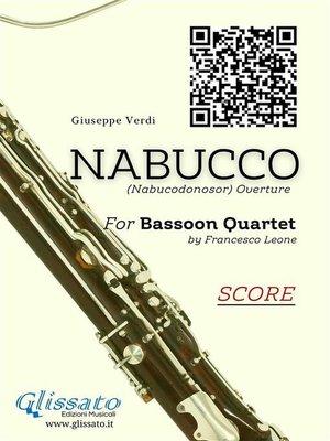 cover image of Nabucco--Bassoon Quartet score & parts