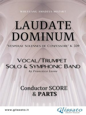 """cover image of """"Laudate Dominum"""" Solo and Symphonic Band (score & parts)"""