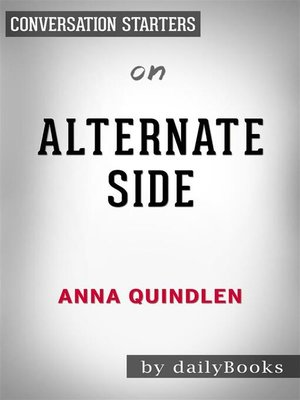 cover image of Alternate Side--by Anna Quindlen